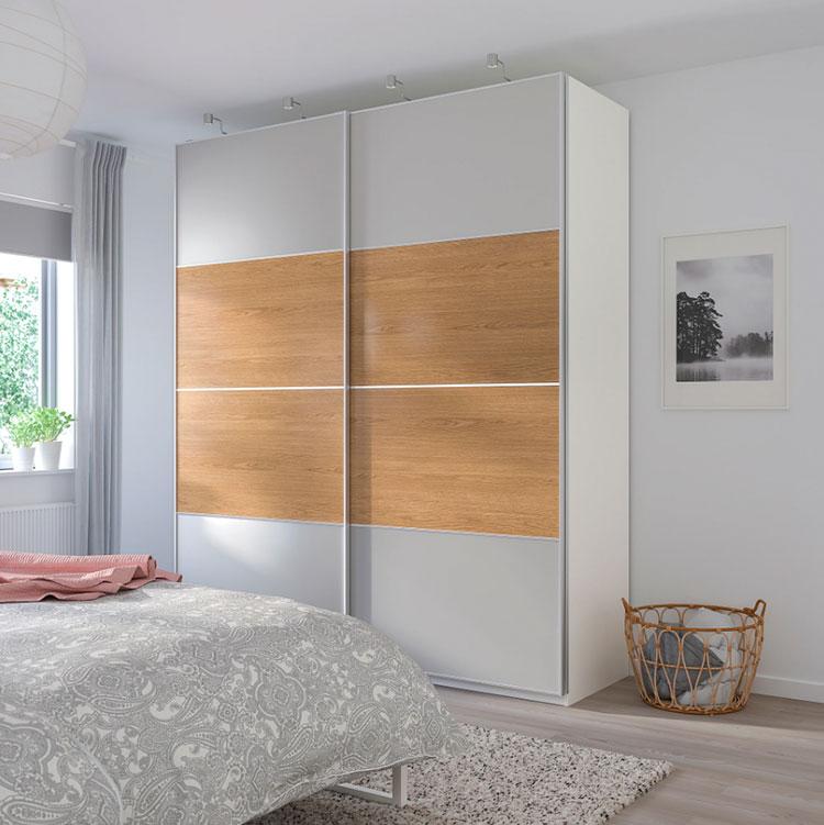 Modello di armadio con ante scorrevoli di Ikea n.02
