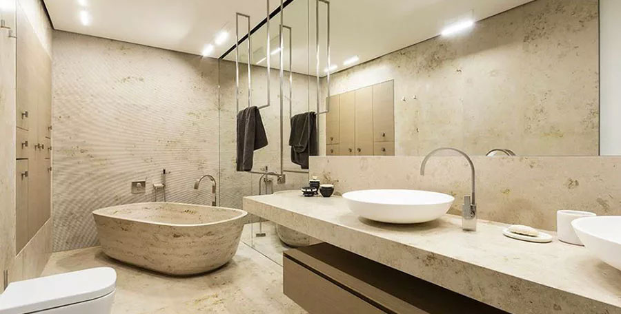Bagno classico moderno