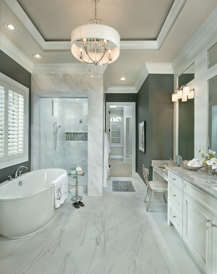 15 foto di bellissimi bagni con arredo tra classico e for Pictures of latest bathroom designs