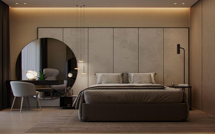 Camera da letto in stile zen orientale n.42