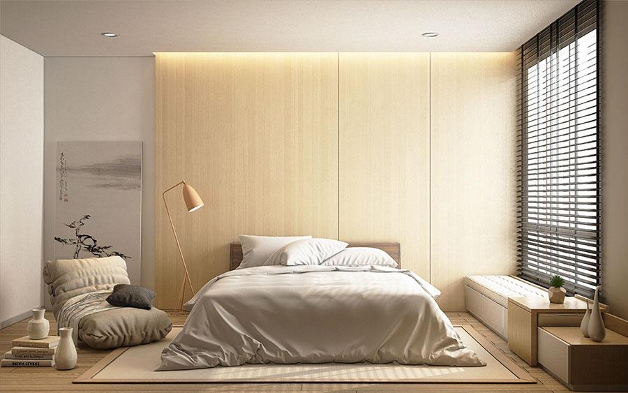 Camera da letto in stile zen orientale n.43