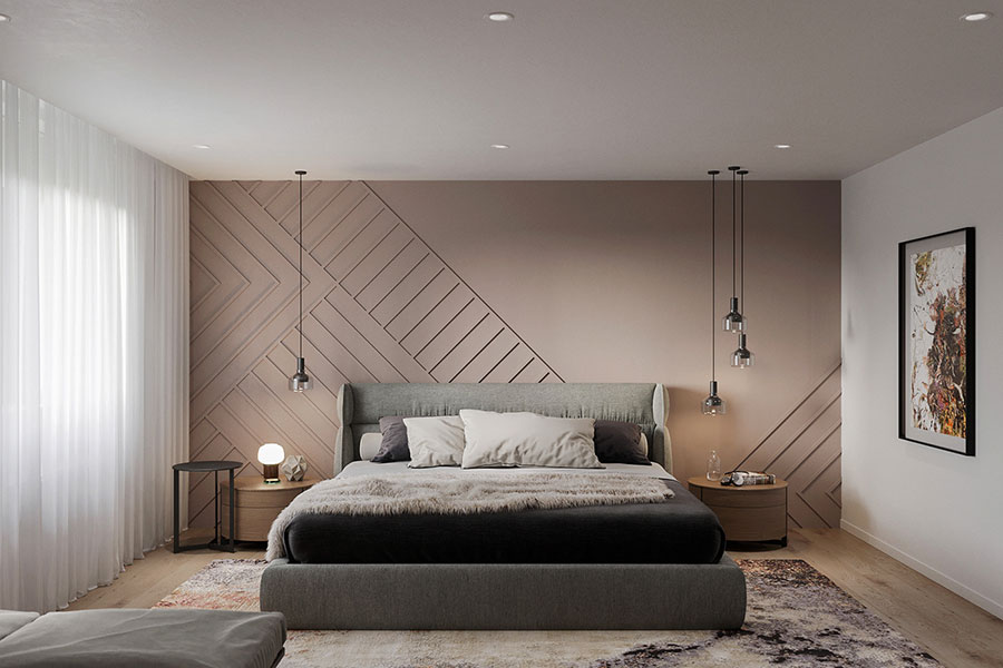 Camera da letto in stile zen orientale n.46