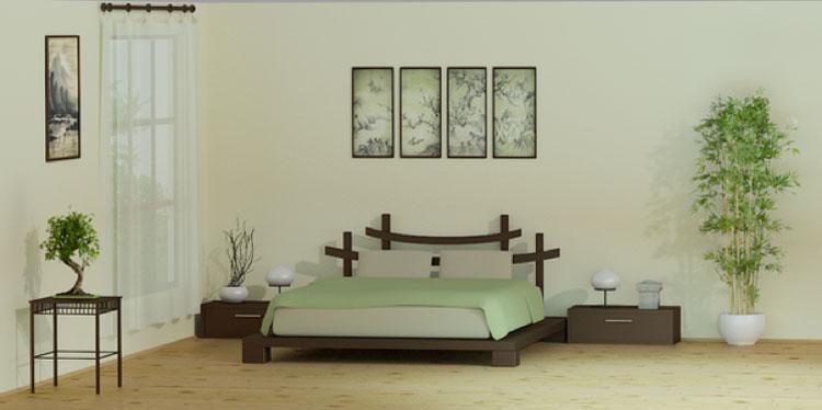 Camera da letto in stile zen orientale n.05
