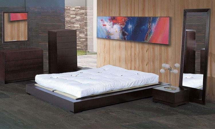 Camera da letto in stile zen orientale n.09