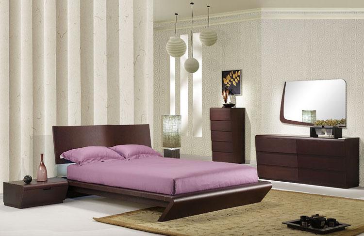 Camera da letto in stile zen orientale n.15