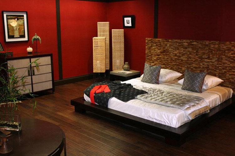 Camera da letto in stile zen orientale n.17