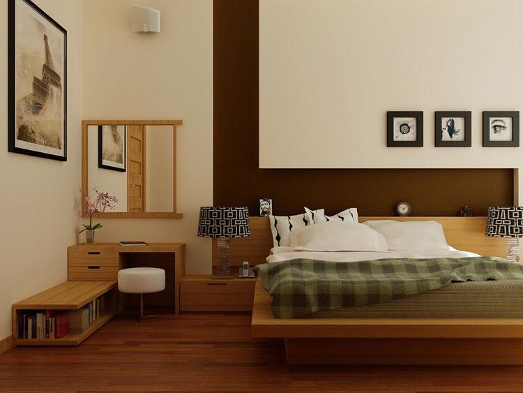Camera da letto in stile zen orientale n.18