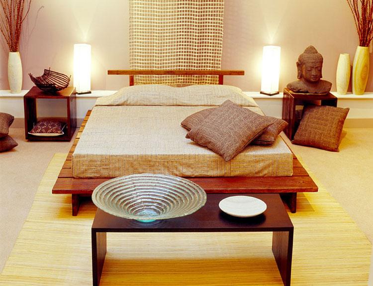 Camera da letto in stile zen orientale n.20