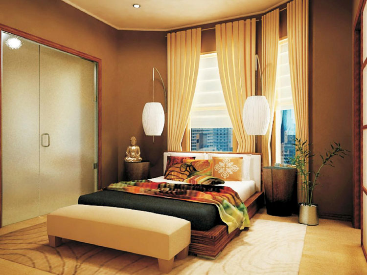 Camera da letto in stile zen orientale n.25