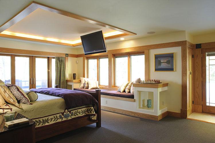 Camera da letto in stile zen orientale n.36