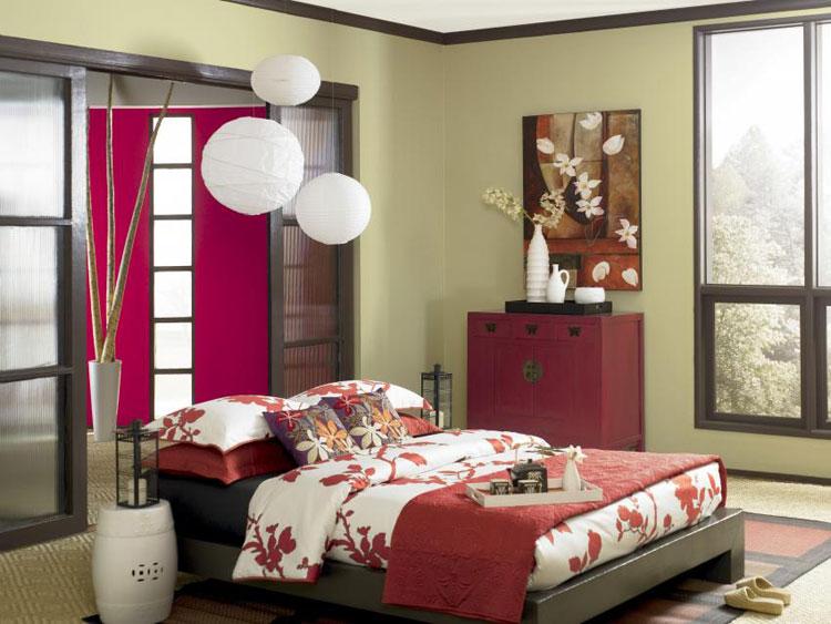 Camera da letto in stile zen orientale n.37