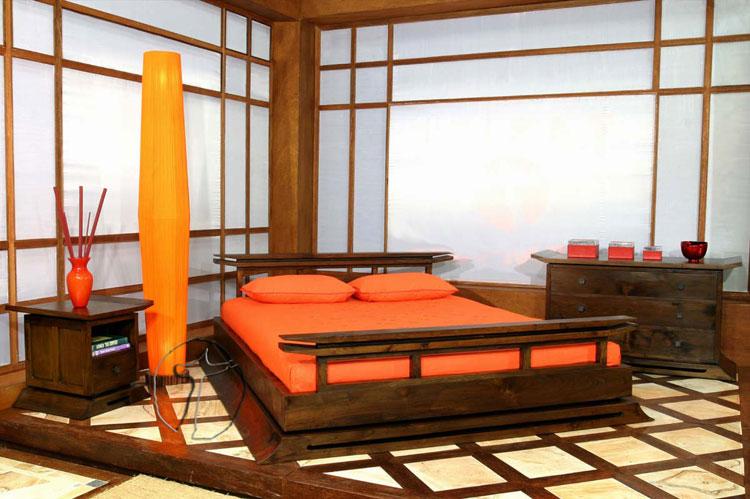 Camera da letto in stile zen orientale n.39