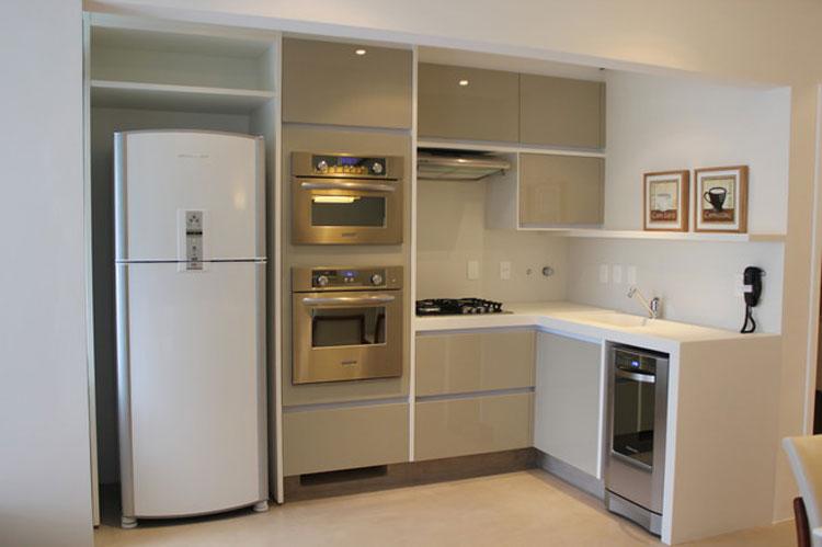 30 piccole cucine funzionali e adorabili per idee di arredo - Cucine angolari piccole dimensioni ...