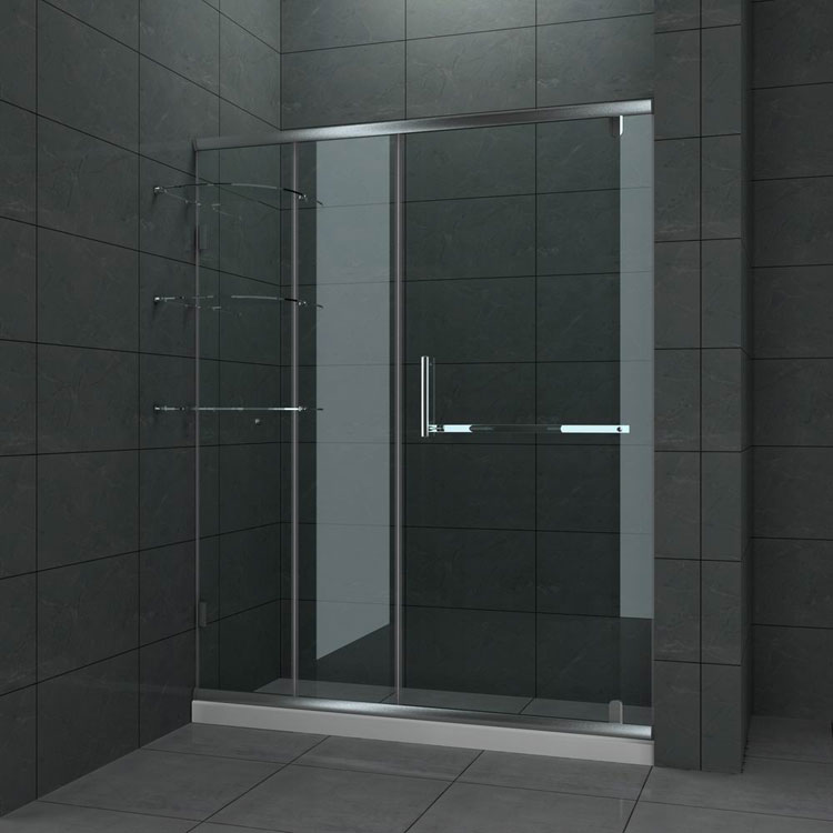 40 foto di bellissime docce moderne for Cool shower door ideas