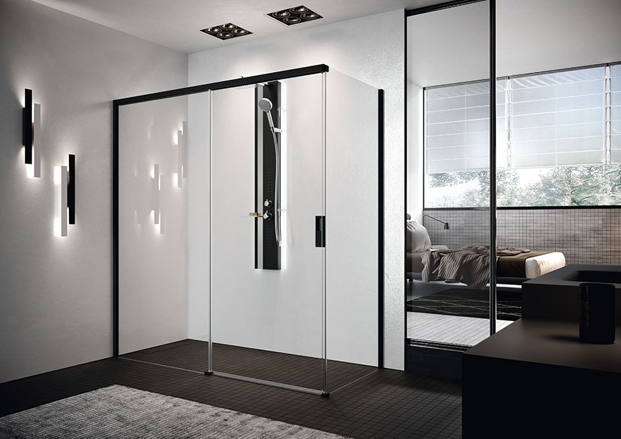 Modello di doccia moderna Novellini 1