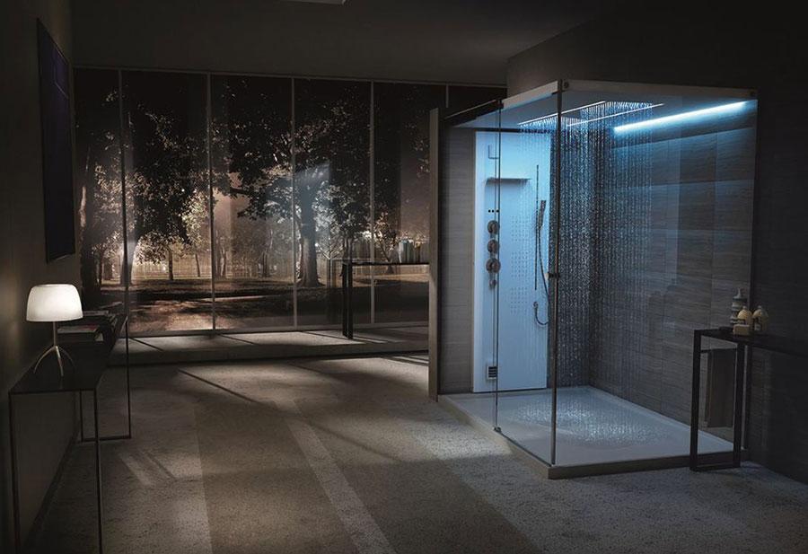 Modello di doccia moderna Teuco