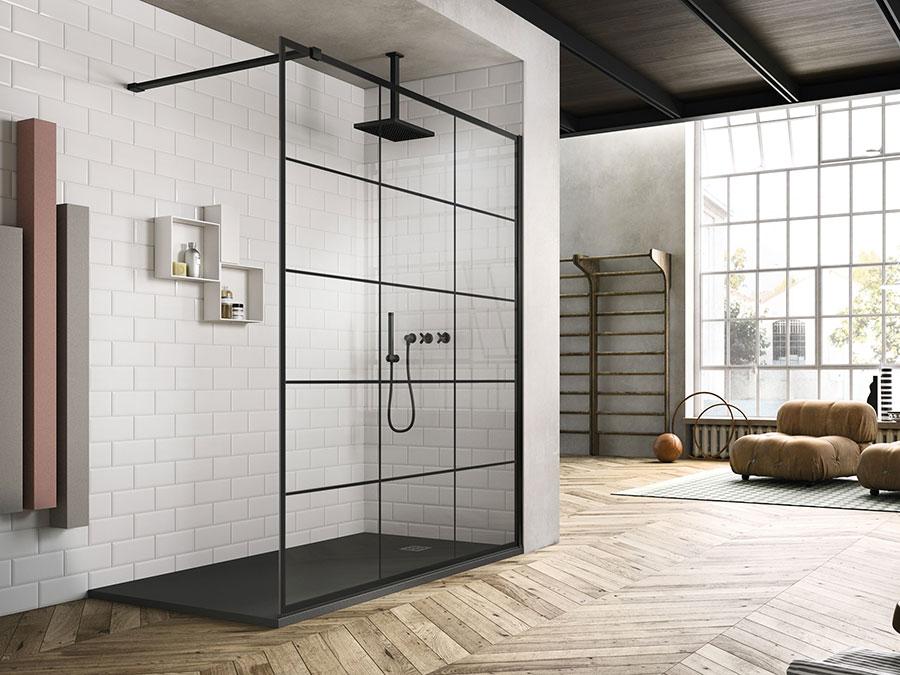 Modello di doccia moderna Vismaravetro