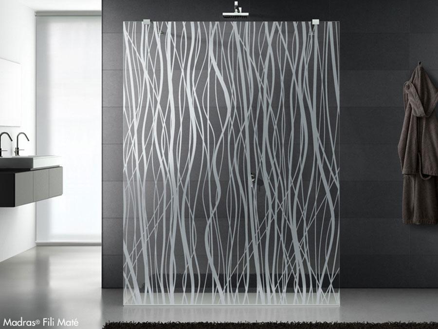 Modello di doccia moderna Vitrealspecchi