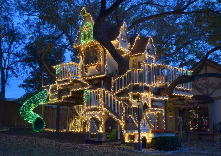 Luminarie della casa sull'albero di Dallas