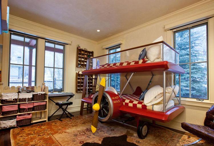 30 foto di letti a castello per bambini davvero originali - Letto per bambini con scivolo ...