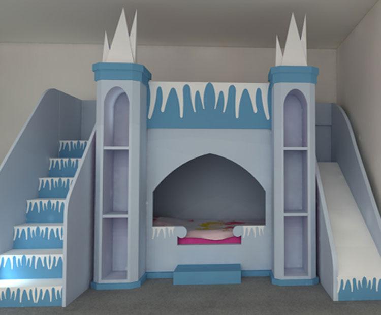 Letto a castello di Frozen