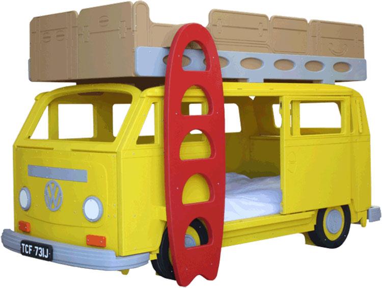 Letto a castello a forma di furgoncino Volkswagen