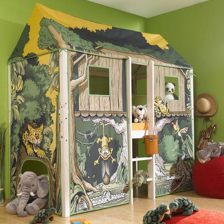 Letto a castello della giungla