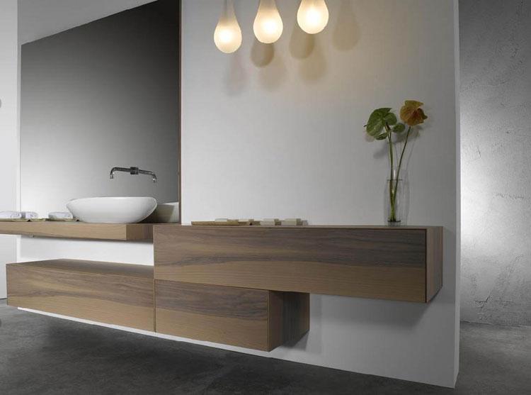50 magnifici mobili bagno sospesi dal design moderno for Mobili moderni di design