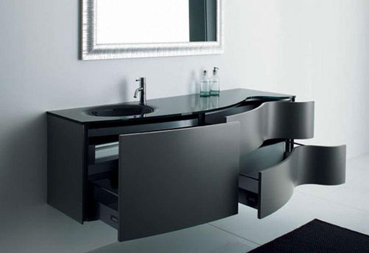 Mobile bagno sospeso in stile moderno n.02
