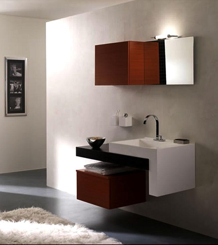 Mobile bagno sospeso in stile moderno n.03