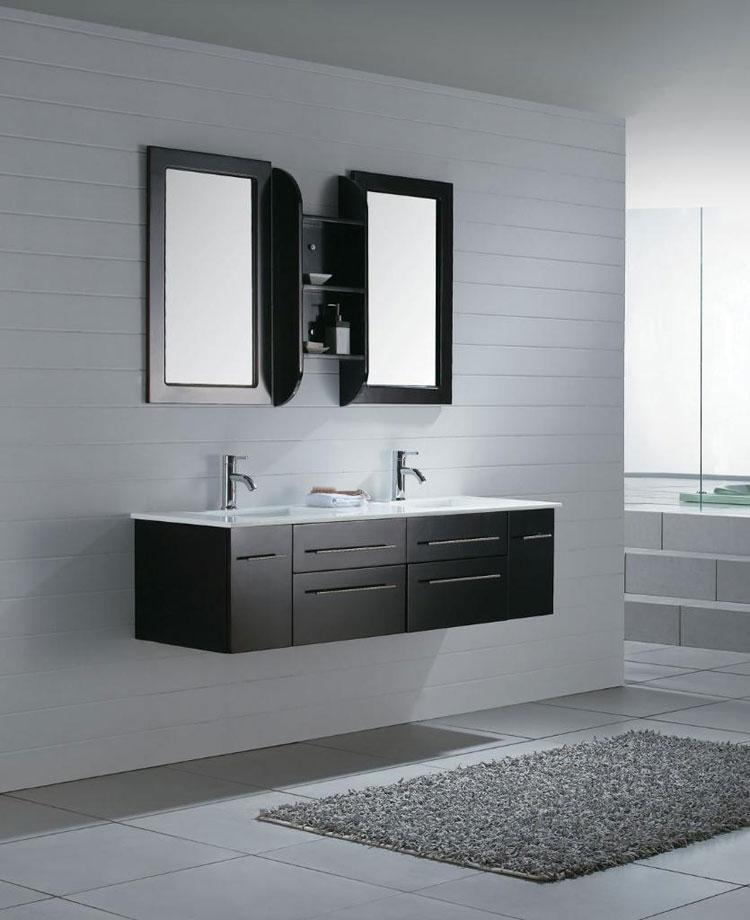 Mobile bagno sospeso in stile moderno n.05