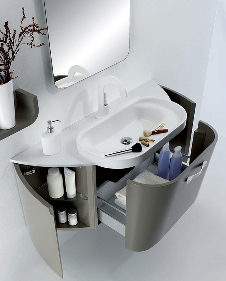 Mobile bagno sospeso in stile moderno n.07