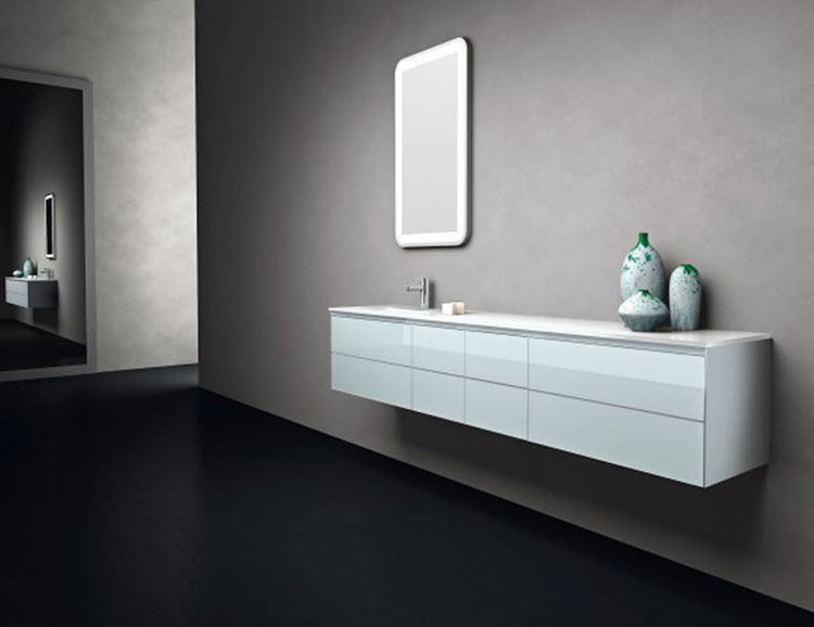Mobile bagno sospeso in stile moderno n.08