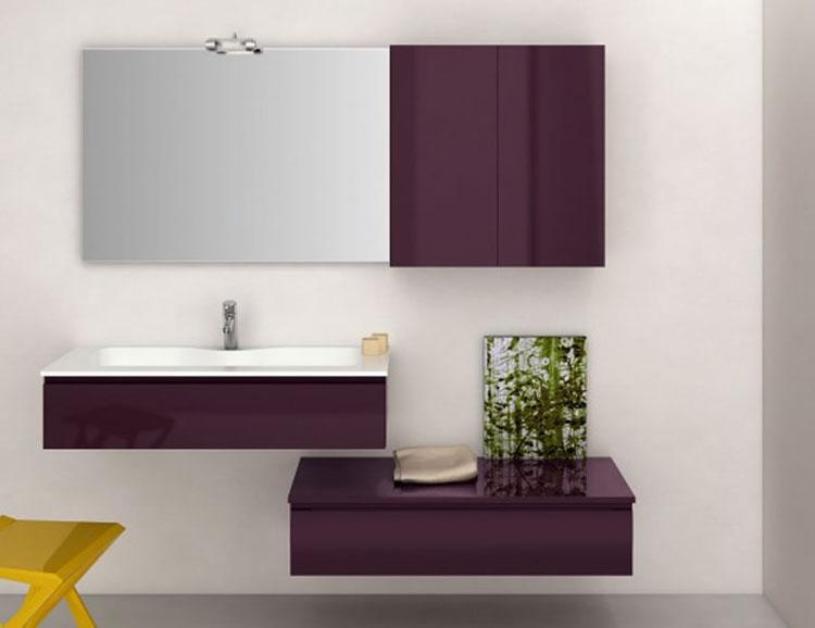 Mobile bagno sospeso in stile moderno n.09