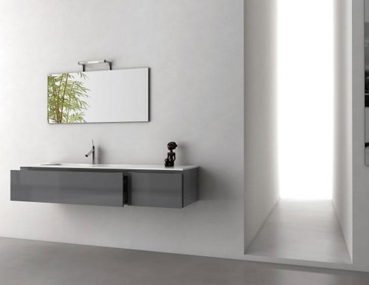 Mobile bagno sospeso in stile moderno n.10