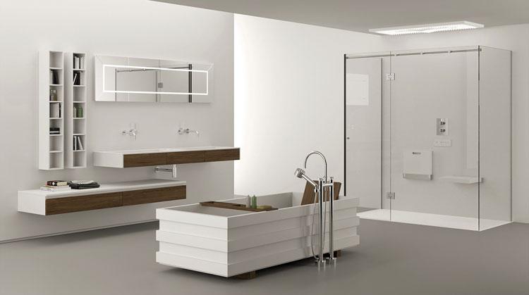 Mobile bagno sospeso in stile moderno n.11