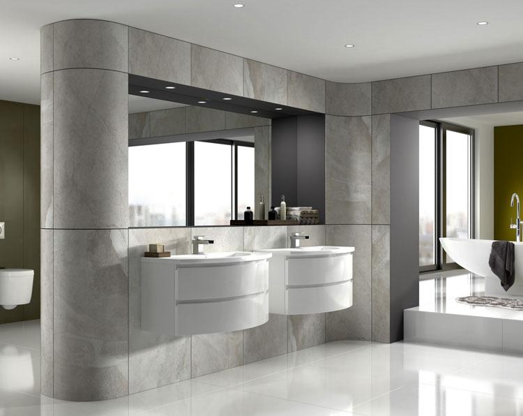 Mobile bagno sospeso in stile moderno n.12