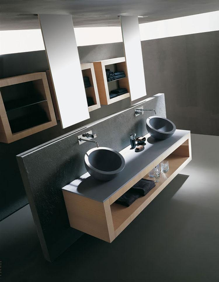Mobile bagno sospeso in stile moderno n.13