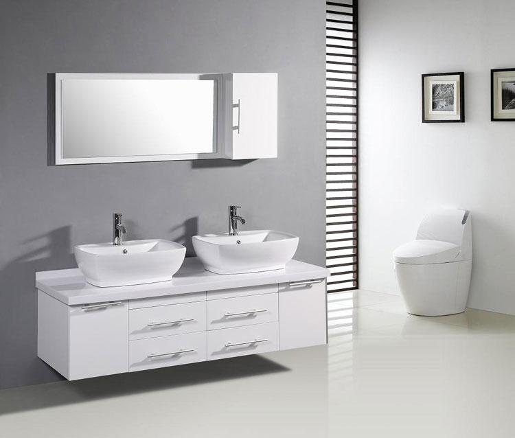 Mobile bagno sospeso in stile moderno n.14