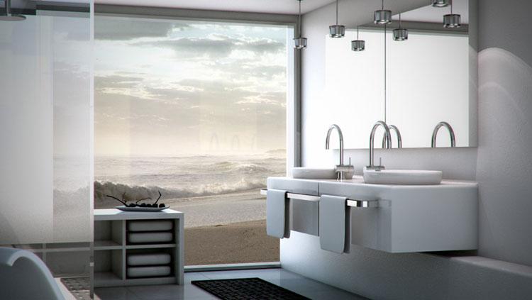 Mobile bagno sospeso in stile moderno n.22