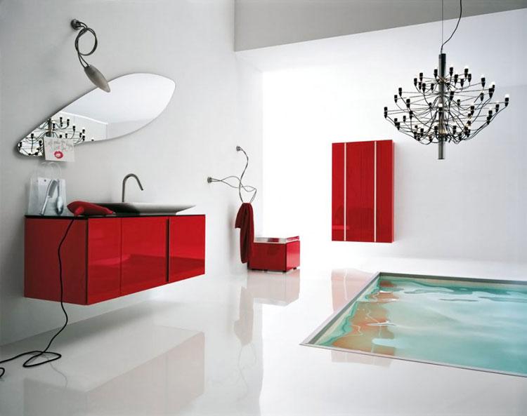 Mobile bagno sospeso in stile moderno n.23