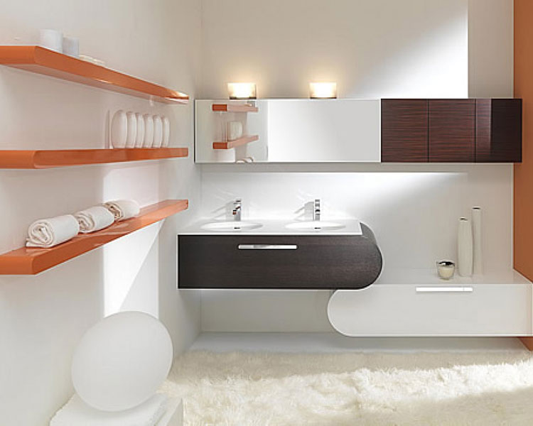 Mobile bagno sospeso in stile moderno n.26