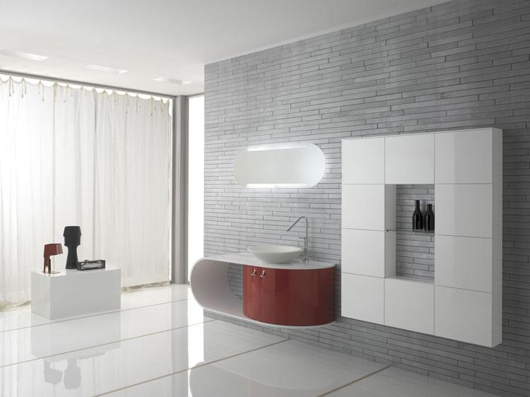 Mobile bagno sospeso in stile moderno n.33