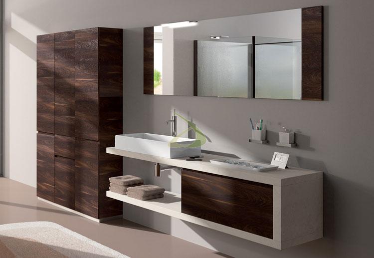 Mobile bagno sospeso in stile moderno n.35