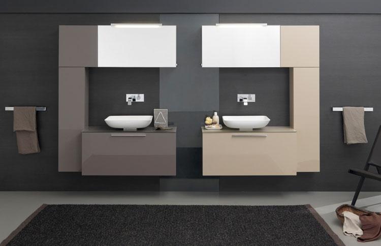 Mobile bagno sospeso in stile moderno n.37
