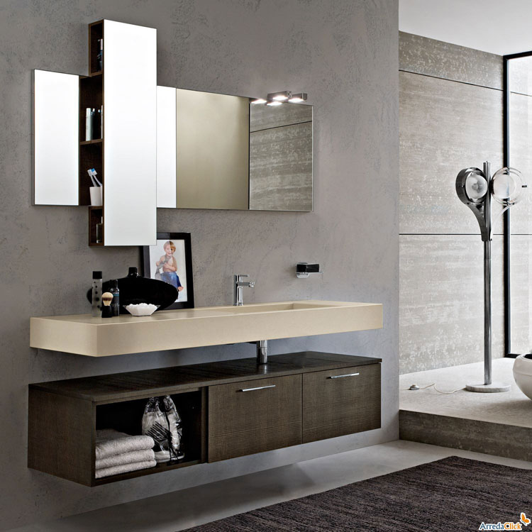 50 magnifici mobili bagno sospesi dal design moderno for Design arredo bagno