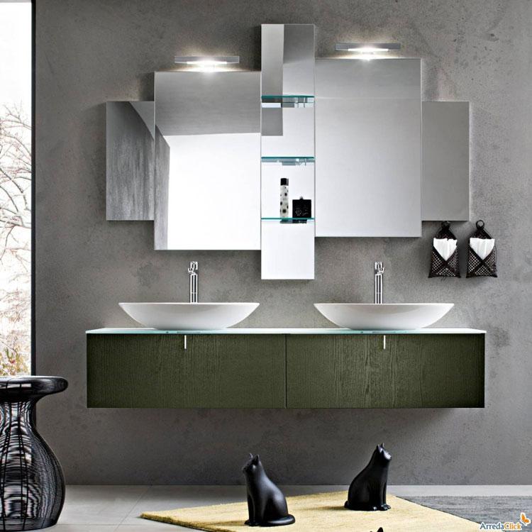 50 magnifici mobili bagno sospesi dal design moderno for Mobili arredo bagno moderni on line