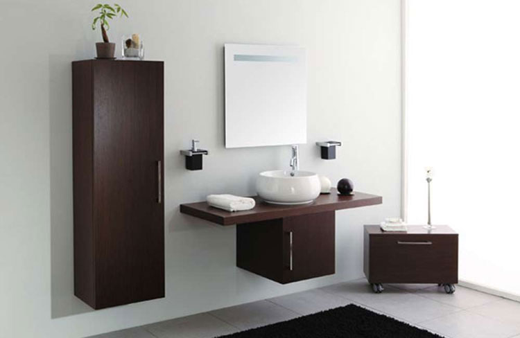 50 magnifici mobili bagno sospesi dal design moderno - Mobiletti sospesi per bagno ...