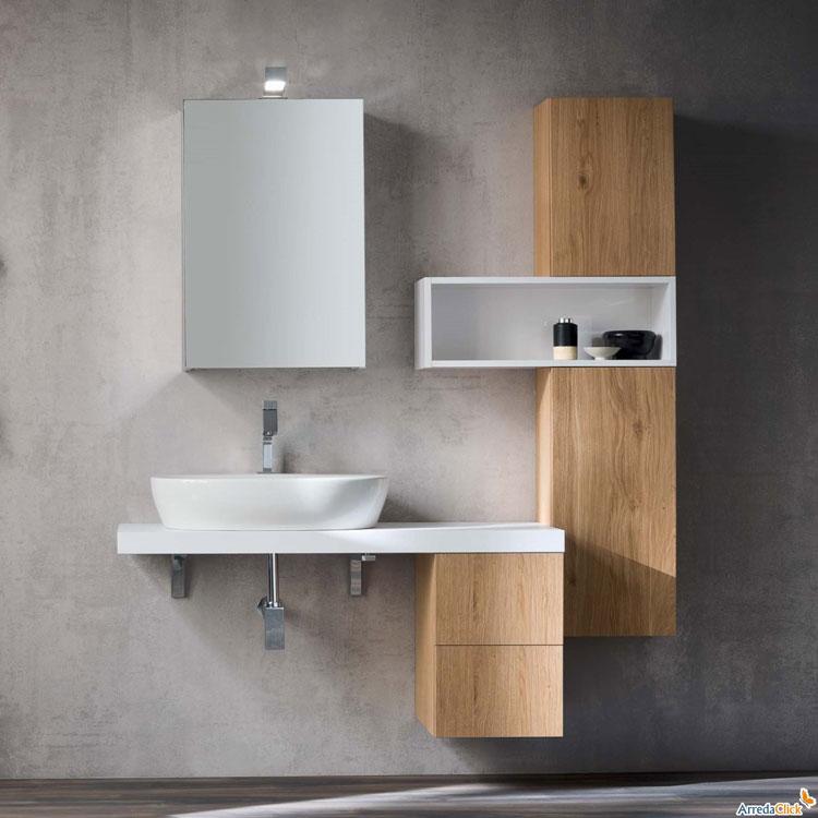 mobile bagno sospeso in stile moderno n49