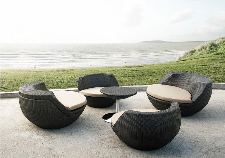 Giardino rattan garden furniture seat dining set